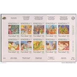 O) 1996 VENEZUELA, IMPERFORATED, CHRISTMAS, CHRISTMAS TRADITION - DANCE, TYPICA