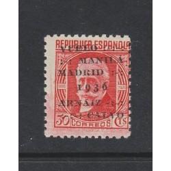 O) 1936 SPAIN, MARXIST POLITICAL PABLO IGLESIAS POSSE, OVER PRINTED MANILA 1936