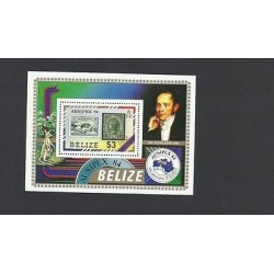 O) 1984 AUSTRALIA, CREATOR OF FIRST POSTMARKED PENNY BLACK SIR ROWLAND HILL, AUS