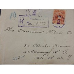 E) 1901 GUATEMALA, CIRCULATED COVER FROM GUATEMALA WITH VIOLET