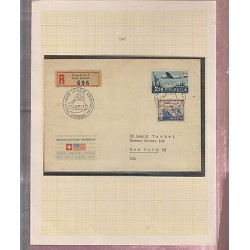 O) 1947 SWITZERLAND, FFC, MAIDEN VOYAGE SWISSAIR, GENEVE AIRPORT COINTRIN TO NE