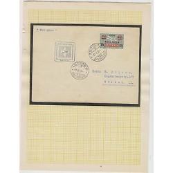 o)1938 SWITZERLAND, FFC SONDERFLUG, AIRMAIL ZURICH LUZERN WITH A PROAEREO OVERPR
