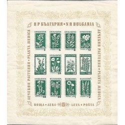 B)1953 BULGARIA, FLOWERS, MEDICINE, MEDICINAL FLOWERS, SOUVENIR SHEETS, MNH