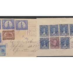 O) 1948 GUATEMALA, COVER REGISTERED,CHRISTOPHER COLUMBUS, PRESIDENT JUSTO RUFINO