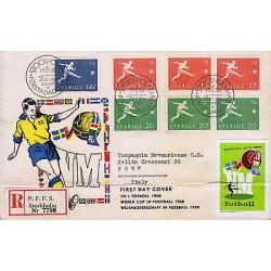G)1958 SWEDEN, 6TH WORLD SOCCER CHAMPIONSHIPS, STOCKOLM, SOCCER PLAYER, MULTIPLE