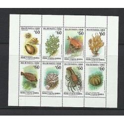 O) 1992 CHILE, SNAIL - MOLLUSK, SEAWEE, FISHES, MARINE LIFE, FLORA AND FAUNA M