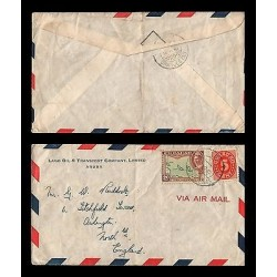 E)1947 CURAÇAO, CARIBBEAN ISLANDS, CIRCULATED COVER TO ENGLAND