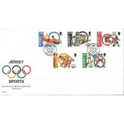 O) 1994 JERSEY, CENTENARY IOC - INTERNATIONAL OLYMPIC COMMITTEE, FDC XF