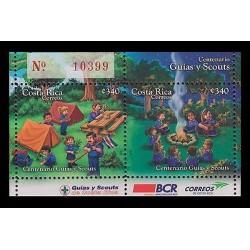 E)2011 COSTA RICA, SCOUTS AND GUIDES CENTENARY, SOUVENIR SHEET, MNH