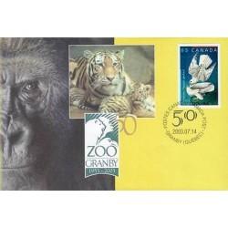 E) 2003 CANADA, ZOO GRAMBY, GORILLA, TIGERS, PIGEONS, FDC, MNH
