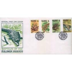 E) 1979 SOLOMON ISLANDS, REPTILES OF THE SOLOMON ISLANDS, SNAKE, CAMALEON