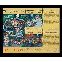 E)2012 COSTA RICA, MYTHS AND LEGENDS, DRAWINGS, SOUVENIR SHEET, MNH