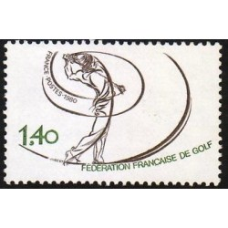 E) 1980 FRANCE, FEDERATION FRANCAIS DE GOLF, SINGLE