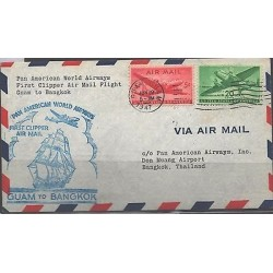 o) 1947 UNITED STATES - USA, PAN AMERICAN WORLD AIRWAYS FIRST CLIPPEER- AIRMAIL