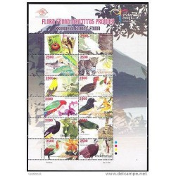 O)INDONESIA 2008 M/SHEET,FLORA AND FAUNA ,BIRDS TREES FRUITS LEOPARD, MNH.