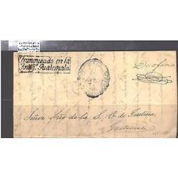 O) 1861 GUATEMALA, PRESTAMP, FRANQUEADO ANTIGUA GUATEMALA, XF