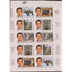 O) 1988 VENEZUELA, DON BOSCO, PRIEST, EDUCATOR CRAFT EDUCATION, TEMPLE, CHURCH,