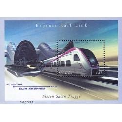G)2002 MALAYSIA, EXPRESS RAIL LINK, LOCOMOTIVE-TRAIN-RAILWAY, STESEN SALAK TINGG