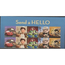 O) 2011 UNITED STATES, CARTOON, SEND A HELLO- FOREVER, STICKERS-ADHESIVE, XF