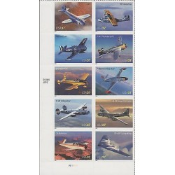 O) 2004 UNITED STATES, SEAPLANES, BOMBERS, AIRCRAFT, SET OF ADHESIVES, STICKERS