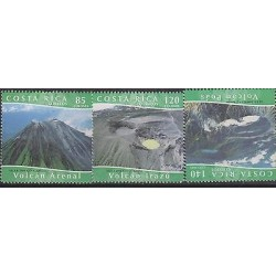 E)2004 COSTA RICA, MOTHER EARTH, VOLCANOES SET, MNH