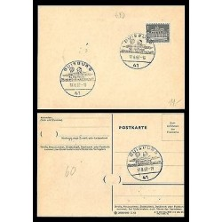 E)1962 GERMANY, BRANDENBURG DOORWAY, WATER POLO, POSTCARD, MARCOPHILIA, XF