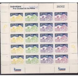 E)2004 COSTA RICA, SURTAX, PRO CITY OF CHILDREN, CHRISTMAS, NATIVITY, KINGS