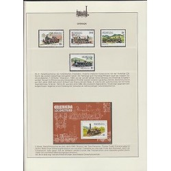 O) 1983 GRENADA, TRAIN, HISTORY LOCOMOTIVE 1863 TO 1893, SET AND SOUVENIR MNH