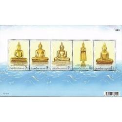 E) 2012 THAILAND, GOLDEN BUDDHA, SOUVENIR SHEET, MNH