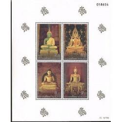 E) 1995 THAILAND, STAMP BUDDHA STATUES BLOCK, MNH