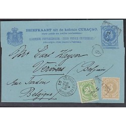 O) 1901 CURACAO, POSTAL STATIONARY, 7 1/2 CENT, 2 1/2 CENT, 3 CENT, ALGEMEENE PO