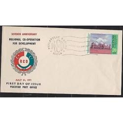 E) 1971 PAKISTAN, SEVENTH ANNIVERSARY, REGIONAL CO-OPERATION FOR DEVELOPMENT