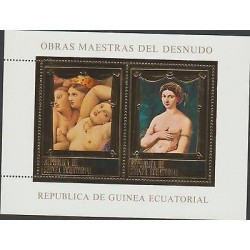 O) 1987 GUINEA, NAKED, DOMINIQUE INGRES, RAFAEL, PAINTING, GOLD PLATED, XF