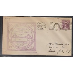 O) 1933 UNITED STATES, 3 CENTS - WASHINGTON, BROOKLYN, COVER TO NEW YORK, XF