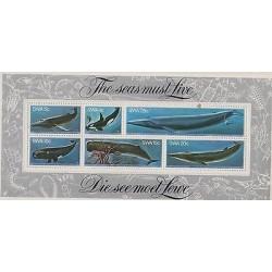O) 1980 SOUT WEST AFRICA -SWA, SEAS, MEGAPTERA NOVAEANGLIAE, ORCINUS ORCA, BALAE