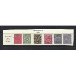 O) 1892 COLOMBIA, 2 C. RED ROSE, 2 C. GREEN, 5 C. BLACK ON BUFF, 10 C. BISTRE BR