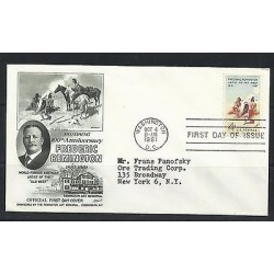 O) 1961 UNITED STATES - USA, PAINTER FREDERIC REMINGTON, PAINTING OLD WEST, FDC