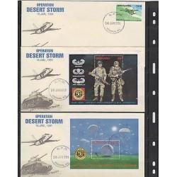 E) 1991 GRENADA, MARSHALL, OPERATION DESERT STORN, 50 ANNIVERSARY U.S.A AIRBORNE