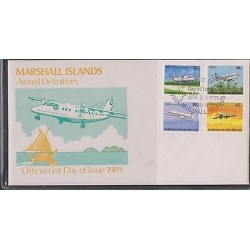 E) 1989 MARSHALL ISLANDS, AIR MAIL, DONIER DO228, BOEING 373, H.S 748