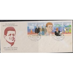 E) 1988 MARSHALL ISLANDS, 25 TH ANNIVERSARY TRIBUTE TO JOHN F. KENNEDY