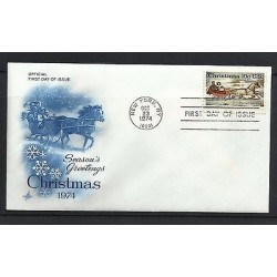 O) 1974 UNITED STATES - USA, CHRISTMAS. FDC XF