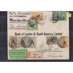 C) 1926, GERMANY SCADTA MULTIPLE COVER TO BOGOTA COLOMBIA SUPERBE