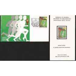 E)1989 COLOMBIA, XI NATIONAL SPORTS GAMES, OLYMPIC TORCH-RUNNERS