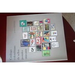 O) 2015 COLOMBIA, NEW- COLOMBIAN STAMPS CATALOG 1959 TO 2009, FULL COLOR SPANISH