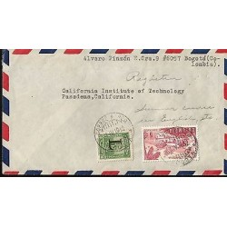 E)1950 COLOMBIA, RURAL HOUSING, AIR MAIL, CIRCULATED COVER FROM BOGOTA