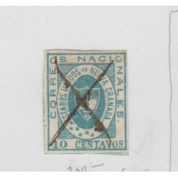 O) 1861 COLOMBIA, 10 CENTAVOS BLUE, SG 13,