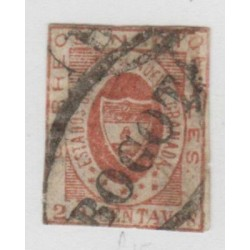 O) 1861 COLOMBIA, 20 CENTAVOS , SG 14 -RED, MINT XF