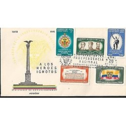 E)1960 COLOMBIA, FLAGS, SHIELD, TRIBUTE TO THE UNKNOWN HEROES, 150 YEARS OF NATI
