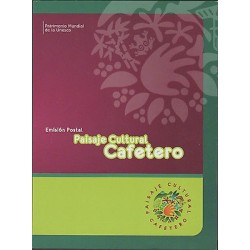 O) 2013 COLOMBIA, COFFEE. PLANT, MOUNTAINS, JEEPAO-CAR, UNESCO HERITAGE, FOLDER