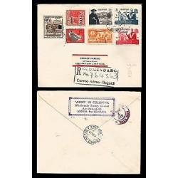 E)1959 COLOMBIA, TRIBUTE TO THE PRESIDENT RAFAEL ALMANZA, BOLIVAR